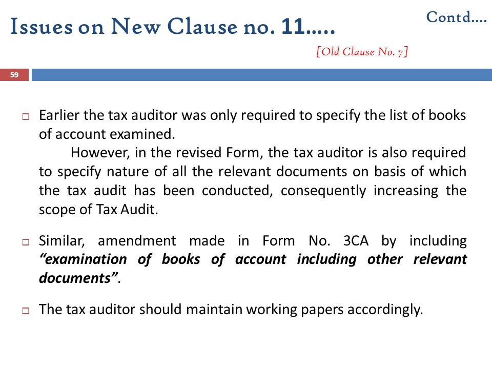 Issues on New Clause no. 11….. [Old Clause No. 7]